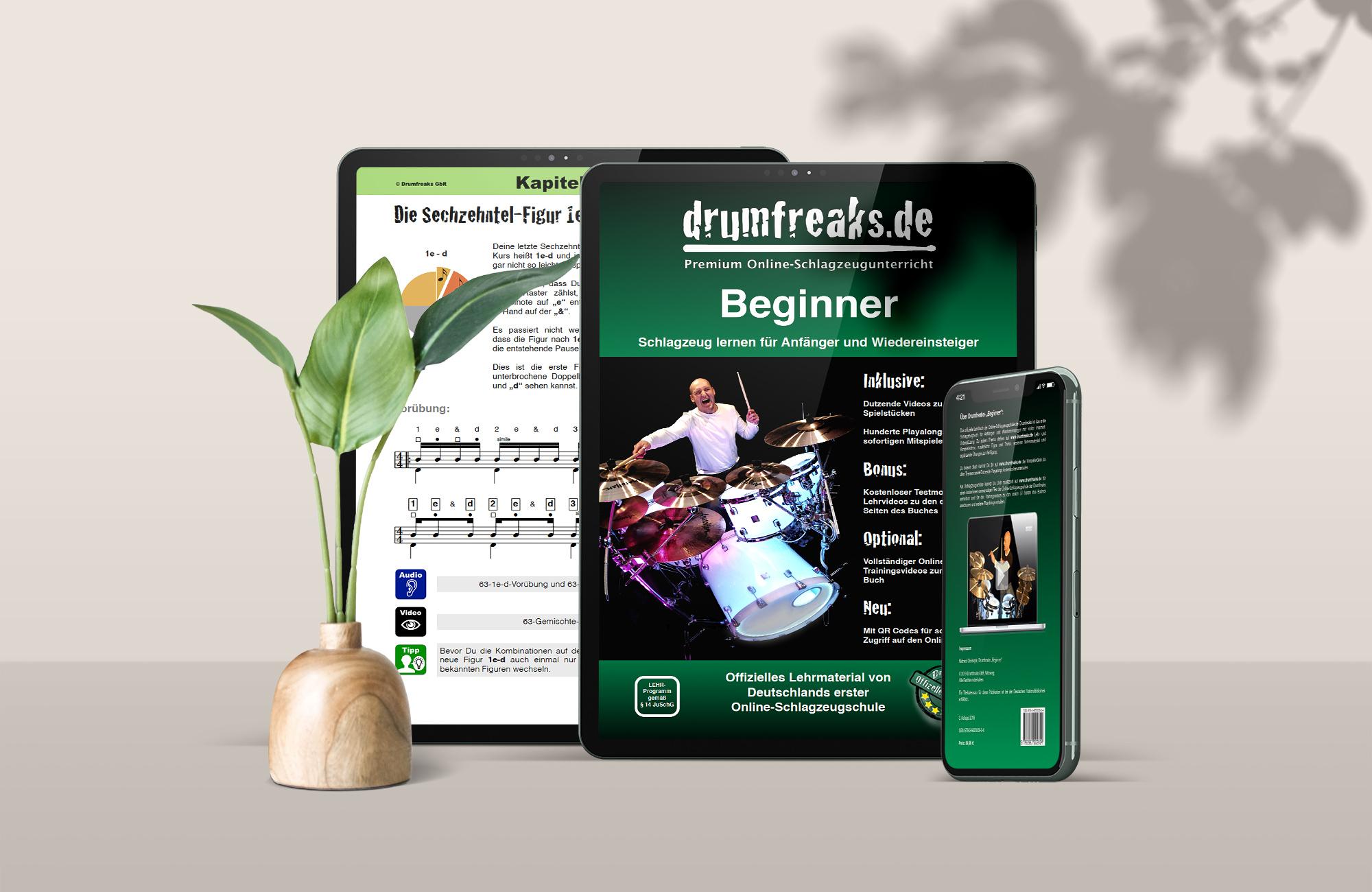 """Drumfreaks-""""Beginner"""" (E-Book)"""